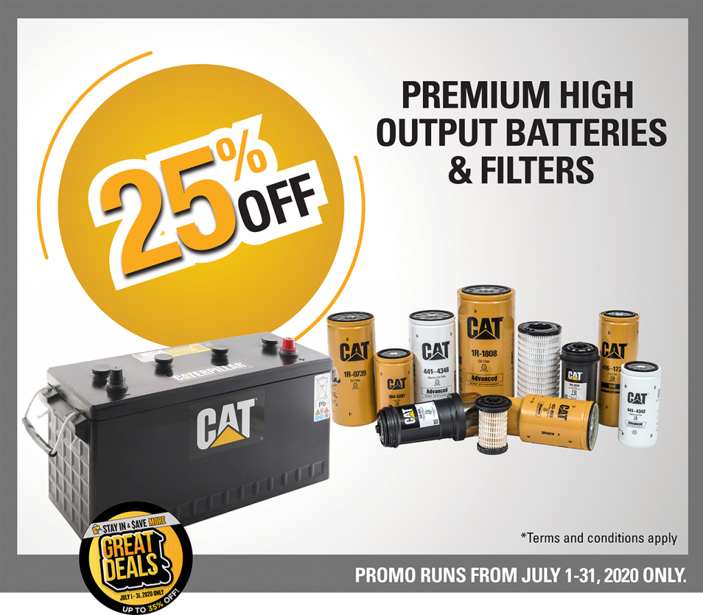 premium high output batteries and filters