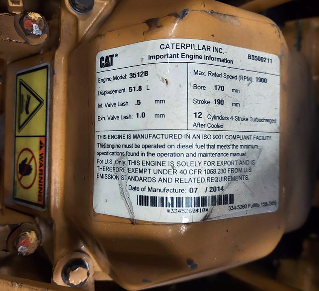 YAM00800 CAT 3512B 1500 kW 02